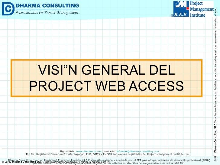 VISIÓN GENERAL DEL PROJECT WEB ACCESS