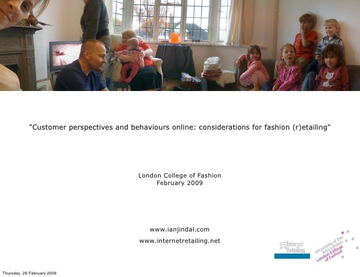 quot;Customer perspectives and behaviours online: considerations for fashion (r)etailingquot;                             ...