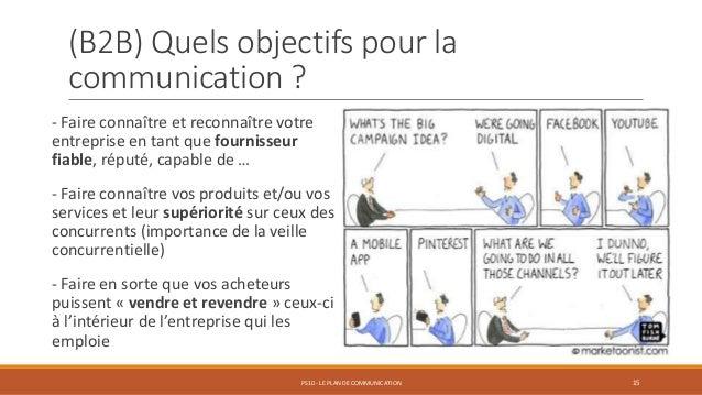 (B2B) Quels objectifs pour la communication ? - Faire connaître et reconnaître votre entreprise en tant que fournisseur fi...
