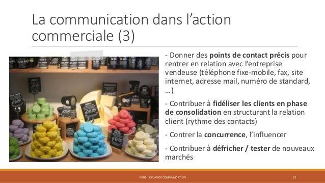 La communication dans l'action commerciale (3) - Donner des points de contact précis pour rentrer en relation avec l'entre...