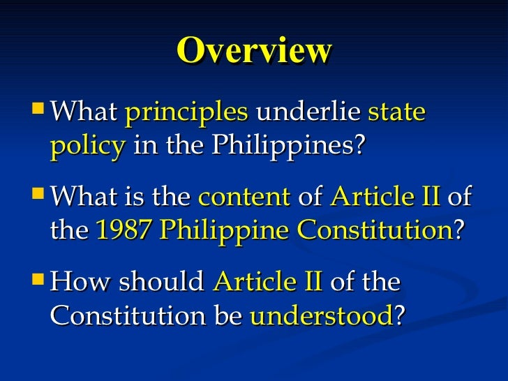 1987 philippine constitution article iii section Article iii bill of rights section 1 no person shall be deprived of life,  liberty, or property without due process of law, nor shall any person be denied the .