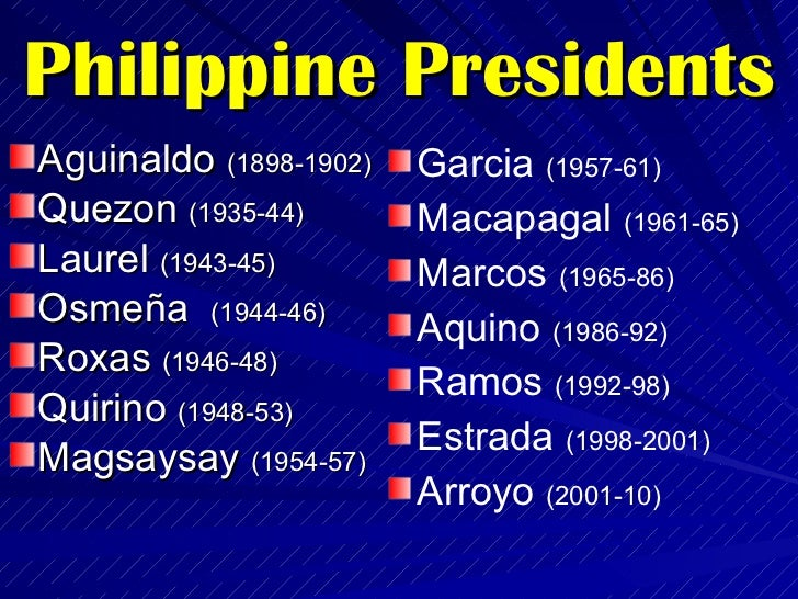 biography of the philippine presidents If philippines president rodrigo duterte is ever held to account for the thousands of extrajudicial killings in his war on drugs - and that is a big if - it will largely be because of the dogged .