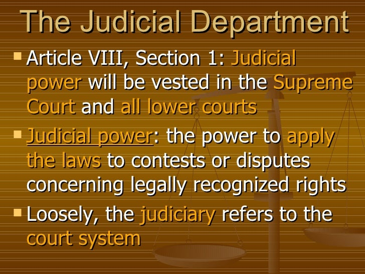 Article judicial branch powers