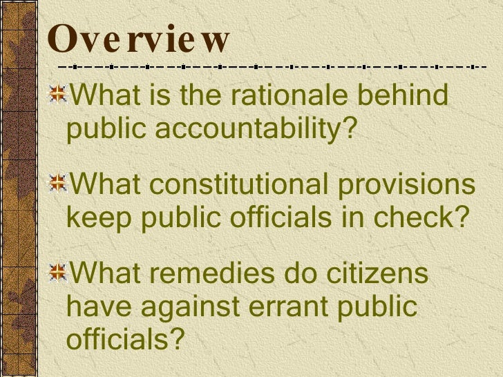accountability of public officials