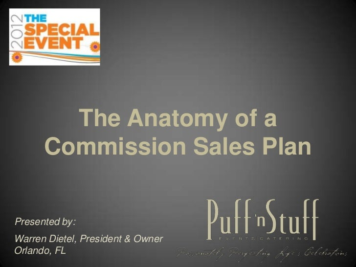 The Anatomy of a      Commission Sales PlanPresented by:Warren Dietel, President & OwnerOrlando, FL
