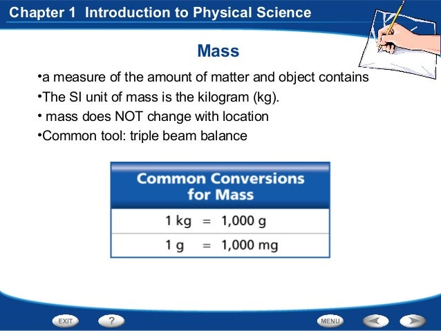 Physical Science Chapter 1.3 Measurements