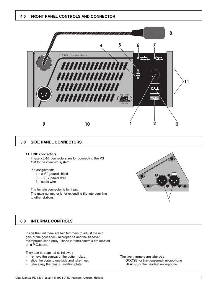 ASL Intercom PS130 – Intercom Wiring Diagram Of Unit 10