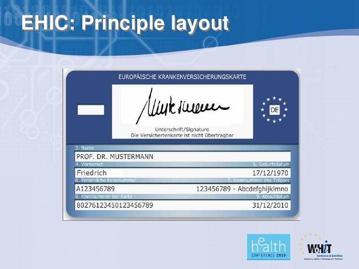 Ehic Karte.Patient Identification In Europe
