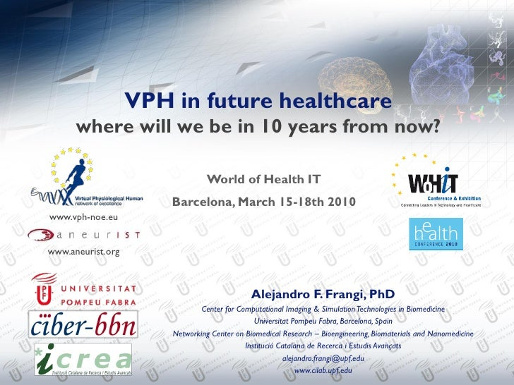 VPH in future healthcare       where will we be in 10 years from now?                                  World of Health IT ...