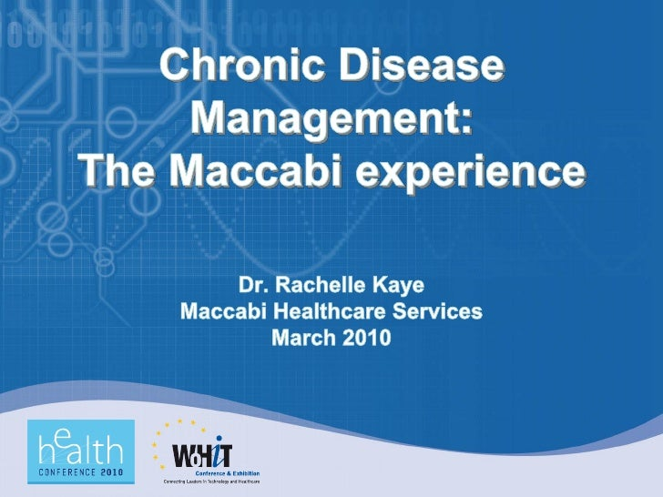 Nearly 70-80% of health care costs result from chronic   care   70% of the disease burden is due to 5 chronic conditions ...