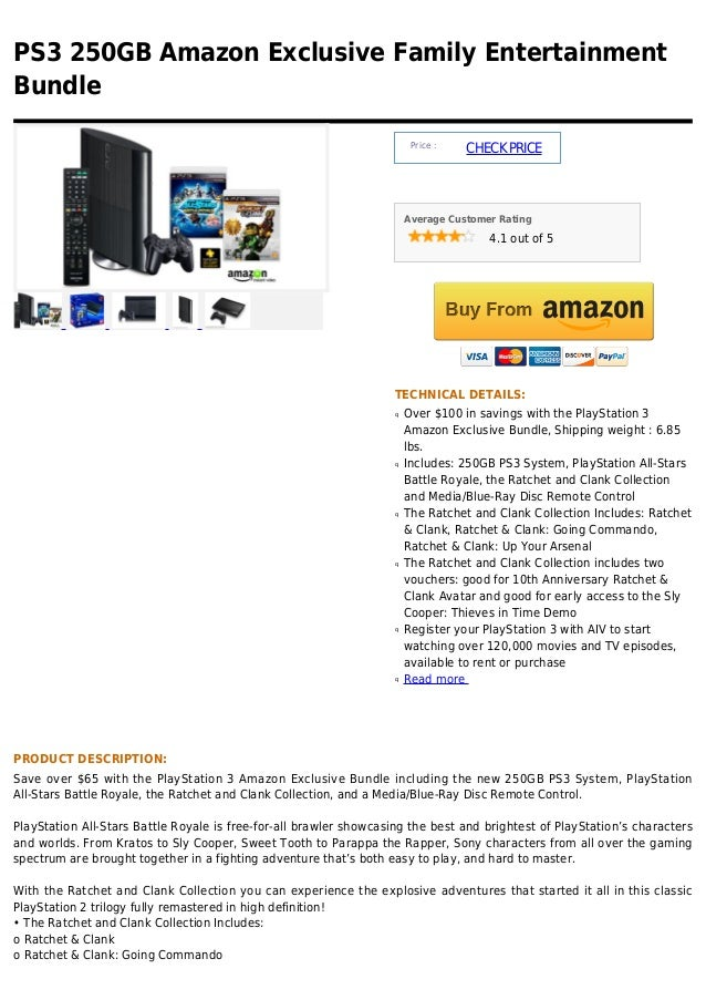 PS3 250GB Amazon Exclusive Family EntertainmentBundle                                                                     ...