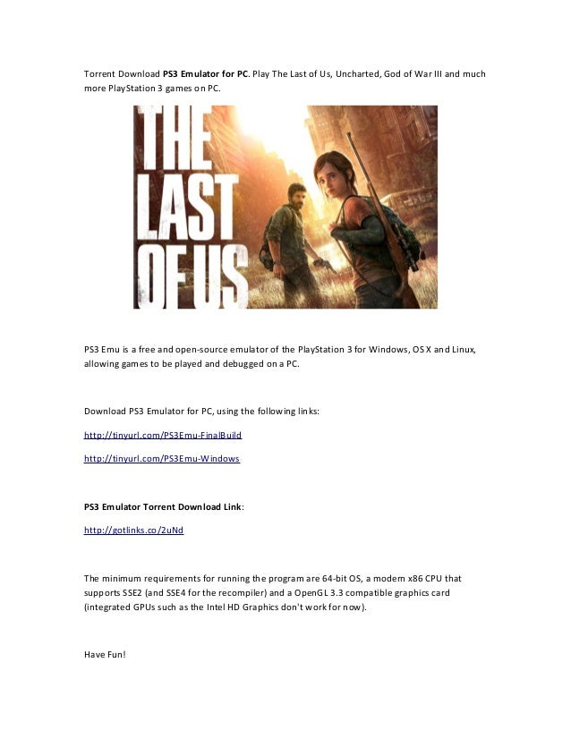 The last of us ps3 emulator / Quote for growth