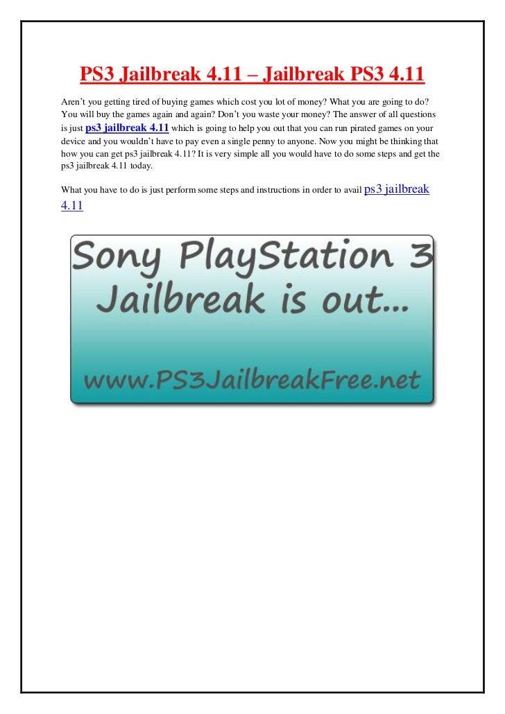 ps3 jailbreak 4.11