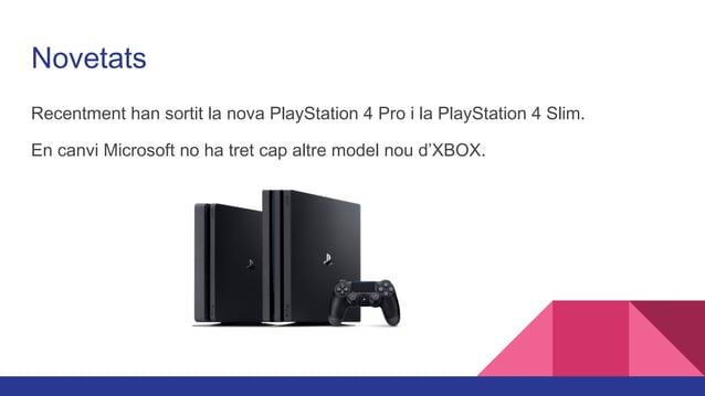 Diferències PS4, PS4 Slim i PS4 Pro La PlayStation 4 i la PlayStation Slim són casi el mateix amb la única diferencia que ...