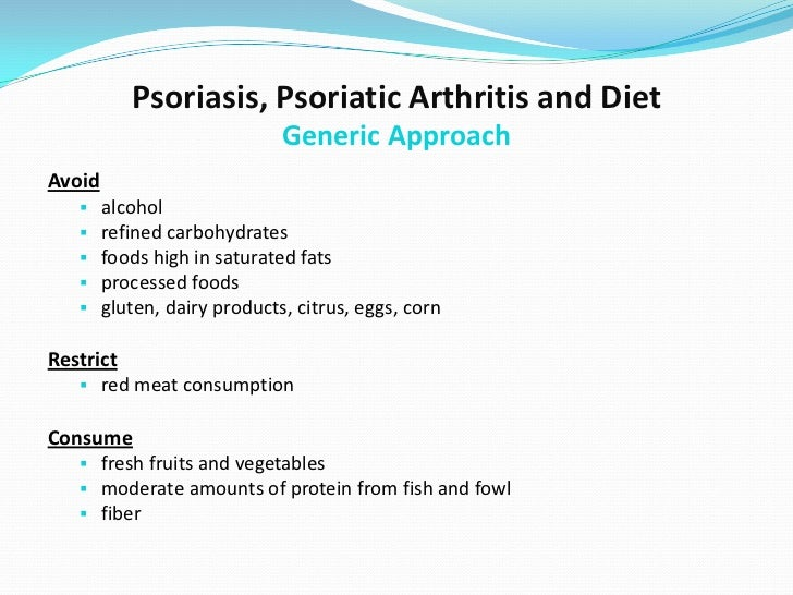 Psoriatic Arthritis and Connection to Diet: an