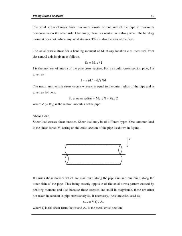 manual stress analysis rh slideshare net Stress Calculation in Bar piping stress analysis manual calculation