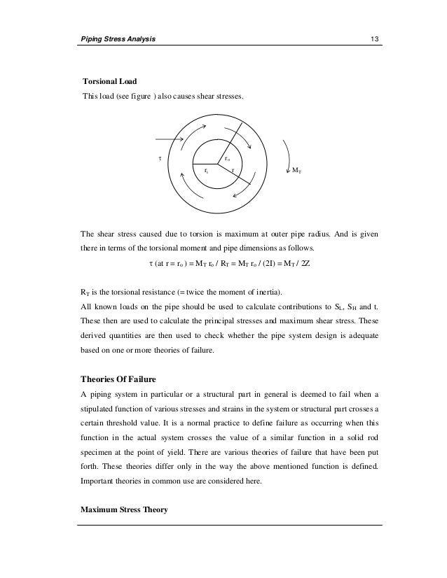 manual stress analysis rh slideshare net piping stress analysis manual calculation Stress and Strain Calculations