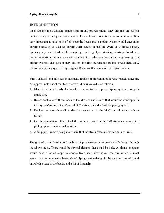 manual stress analysis rh slideshare net piping stress analysis manual calculation xls Stress Calculation in Bar