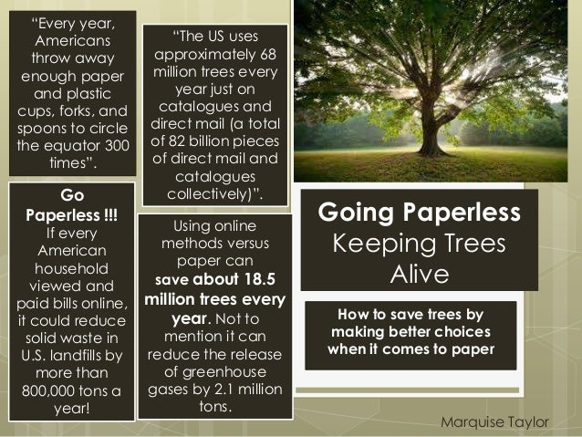 """Going PaperlessKeeping TreesAliveHow to save trees bymaking better choiceswhen it comes to paper""""Every year,Americansthrow..."""