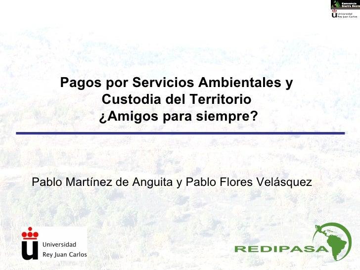 Pagos por Servicios Ambientales y Custodia del Territorio ¿Amigos para siempre? Pablo Martínez de Anguita y Pablo Flores V...