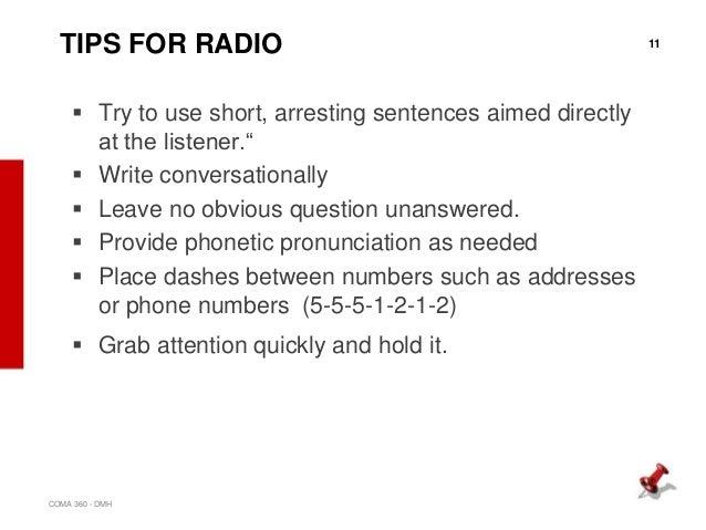 write a public service announcement for radio