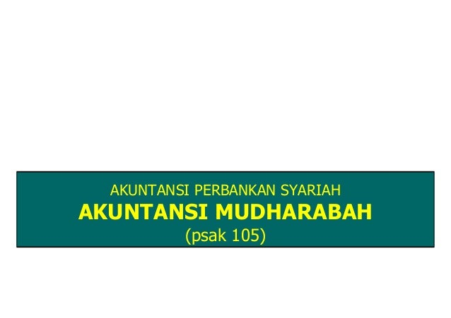 PSAK 105 AKUNTANSI MUDHARABAH PDF