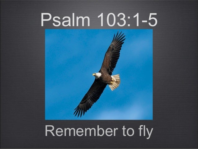 Psalm 103:1-5Remember to fly