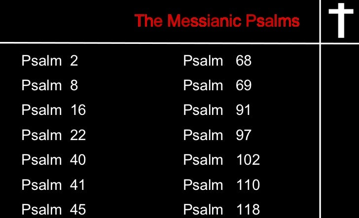 messiah in psalm 22 In this psalm, david lifts up his eyes, looks down the long corridor of time, and  sees in striking detail the crucifixion of the messiah who was yet.