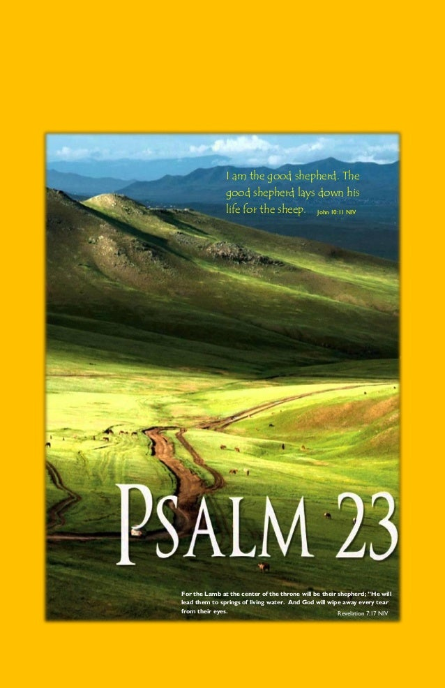 Psalm 23 pictures and verses from the New King James Version
