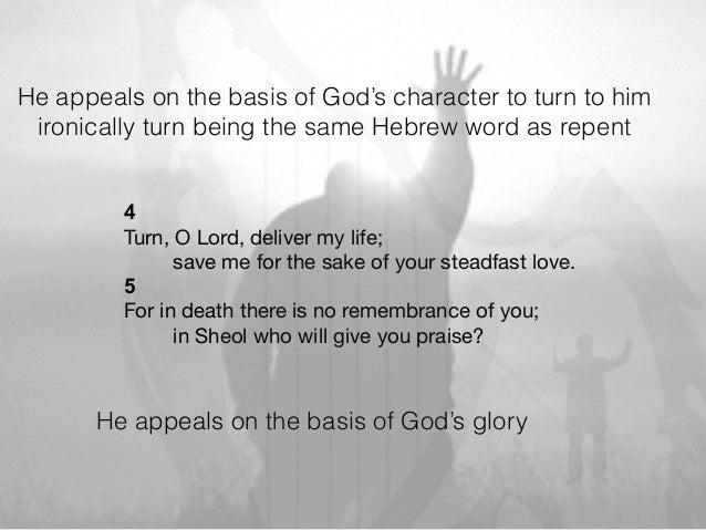 Psalm 6 a sorrowful psalm