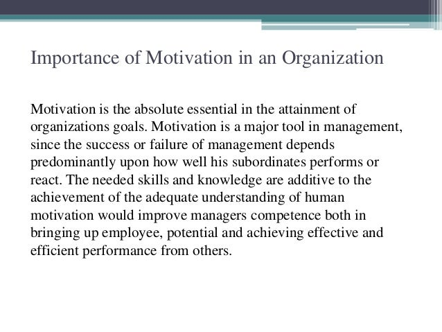 a study on the importance of job performance and its relationship with motivation Relationship, job security and company over all policies and procedures for rewarding employees among the factors that affect employee performance, motivation that comes with.