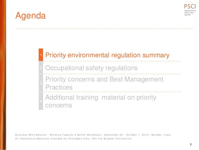 Psci 1 pres environmental and safety regulatory overview maharshi mehta final Slide 3