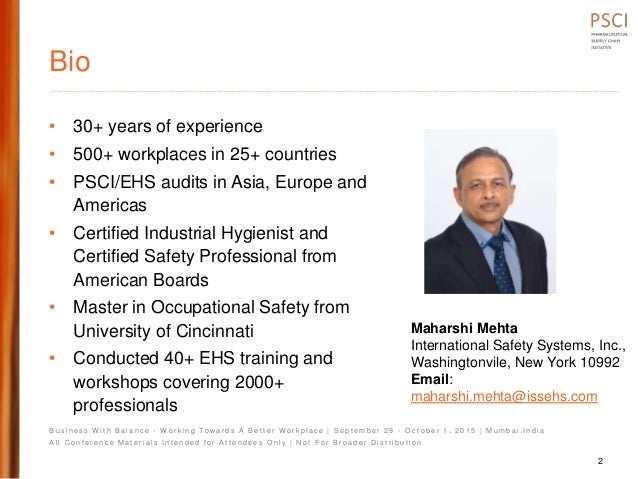Psci2 pres  process safety fundamentals maharshi mehta Slide 2
