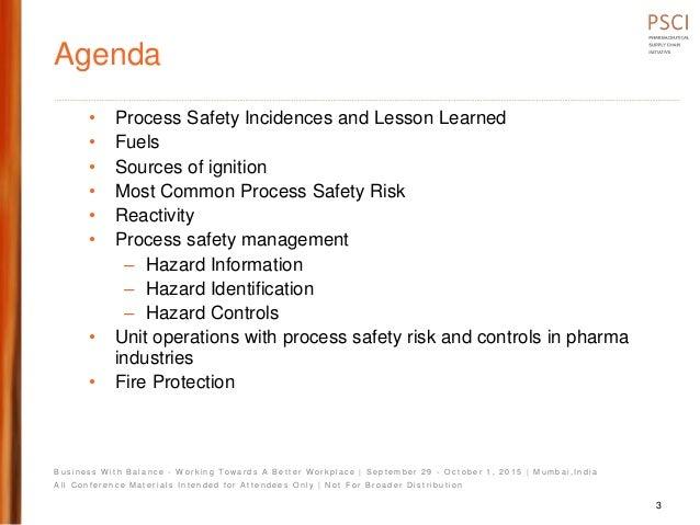 Psci2 pres  process safety fundamentals maharshi mehta Slide 3