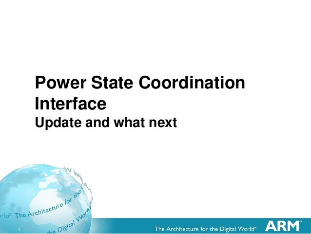 1 Power State Coordination Interface Update and what next
