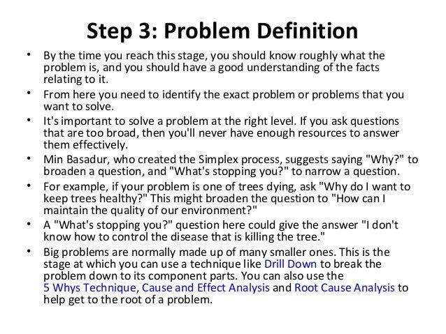 list of problem solving skills