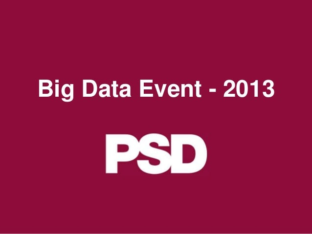 Big Data Event - 2013