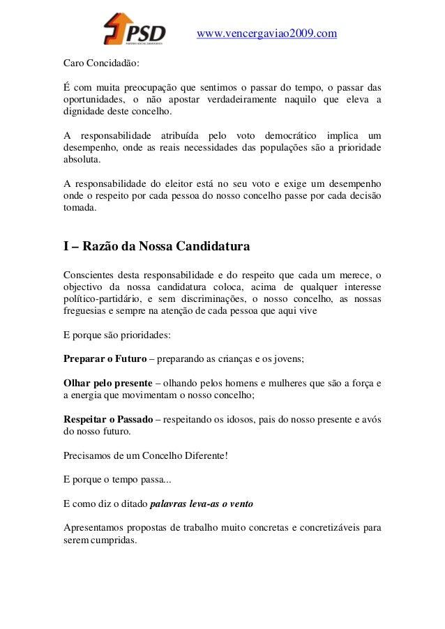 www.vencergaviao2009.comCaro Concidadão:É com muita preocupação que sentimos o passar do tempo, o passar dasoportunidades,...