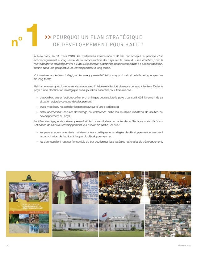 le plan strategique de d u00e9veloppement d u0026 39 haiti r u00e9sum u00e9 en 10 questions