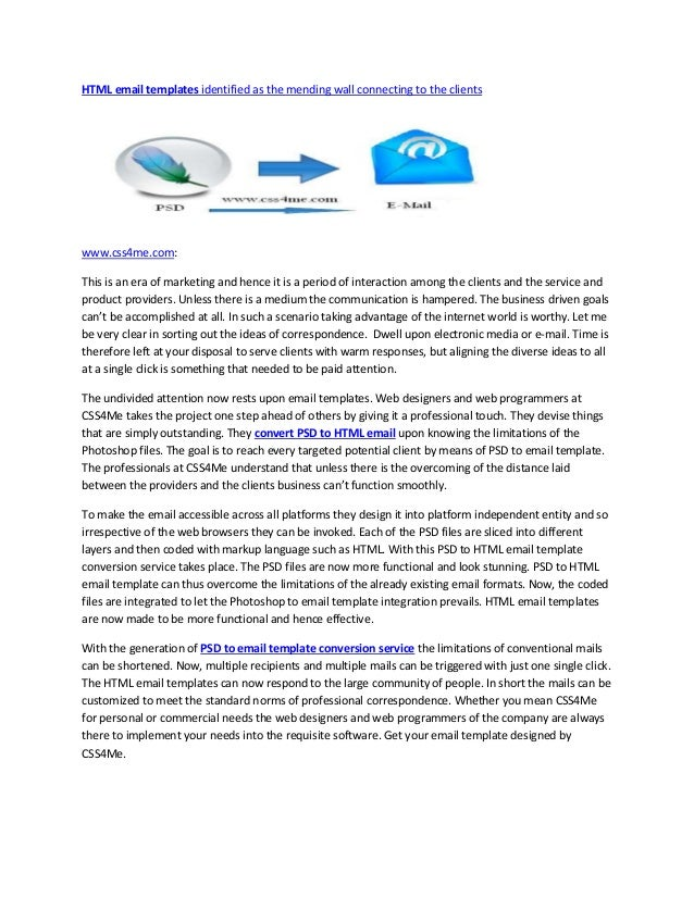 HTML email templates identified as the mending wall connecting to the clientswww.css4me.com:This is an era of marketing an...