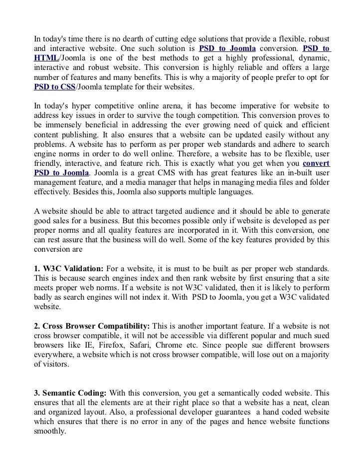 PSD to Joomla- An effective CMS solution