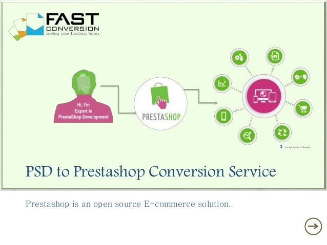 PSD to Prestashop Conversion Service Prestashop is an open source E-commerce solution. Image Source: Google