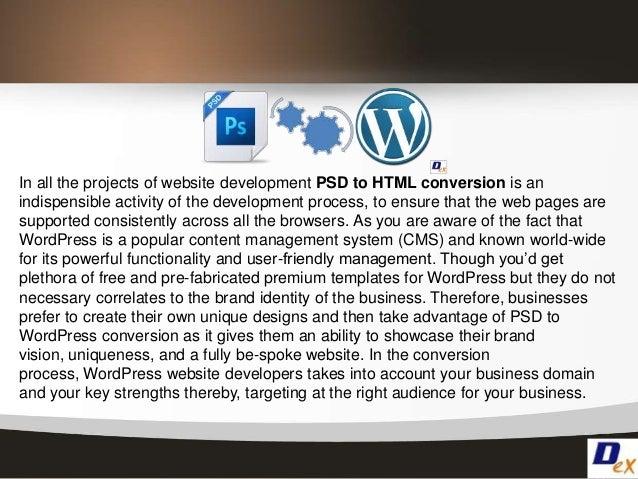 Psd to wordpress conversion process Slide 2