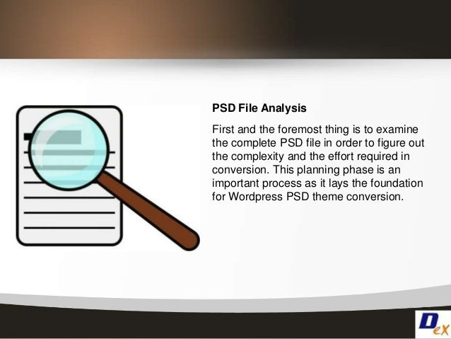 Psd to wordpress conversion process Slide 3