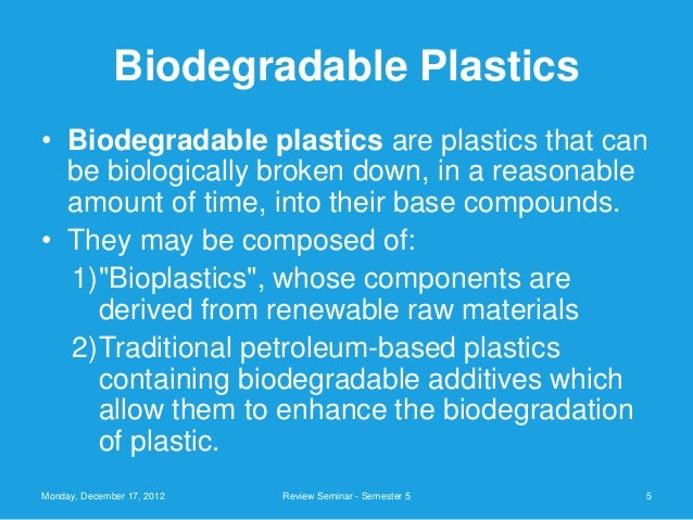 ppt on biodegradable plastics
