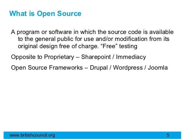 What is Open SourceA program or software in which the source code is available  to the general public for use and/or modif...