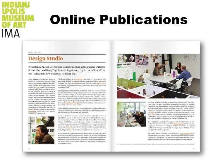 Online Publications<br />