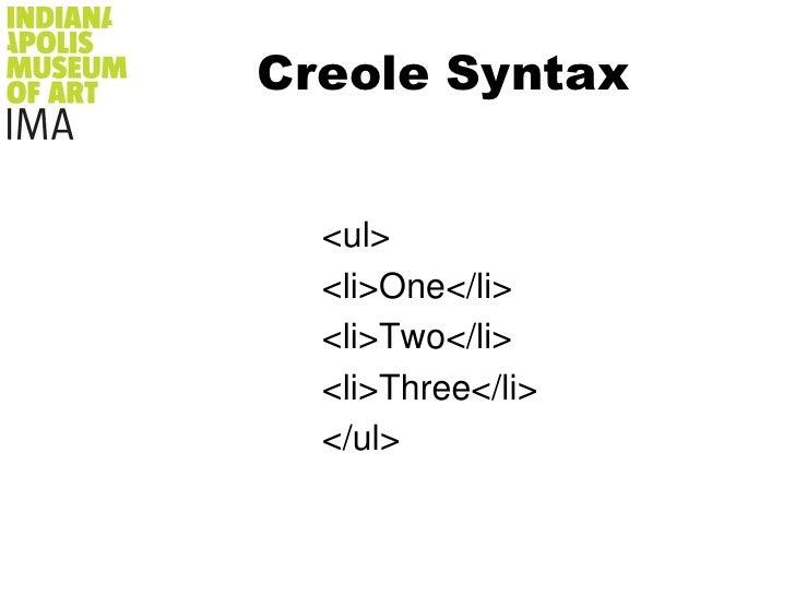 Creole Syntax<br />Georgia O'Keeffe<br />