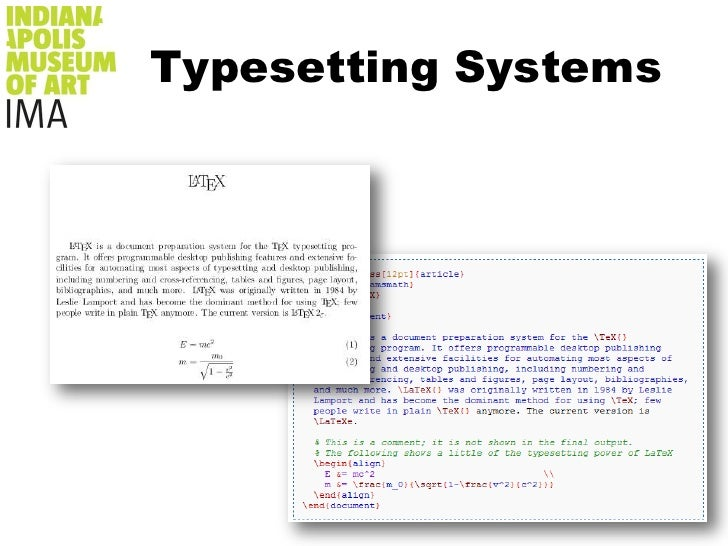 Typesetting Systems<br />