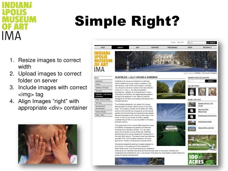 Simple Right?<br />Resize images to correct width<br />Upload images to correct folder on server<br />Include images with ...